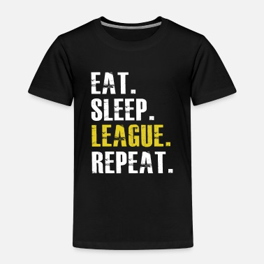 League Game Eat Sleep League Repeat - Kids' Premium T-Shirt