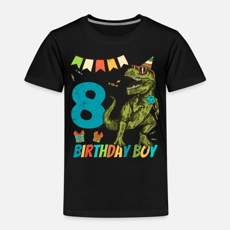 Birthday T-Shirts - 8 Year Olds Childrens Birthday Boy Party - Kids' Premium T-Shirt black