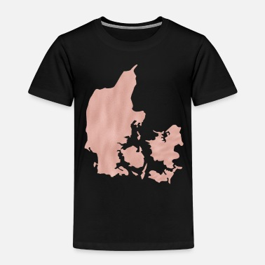 Shilouette Denmark maps Shilouette in pink map - Kids' Premium T-Shirt
