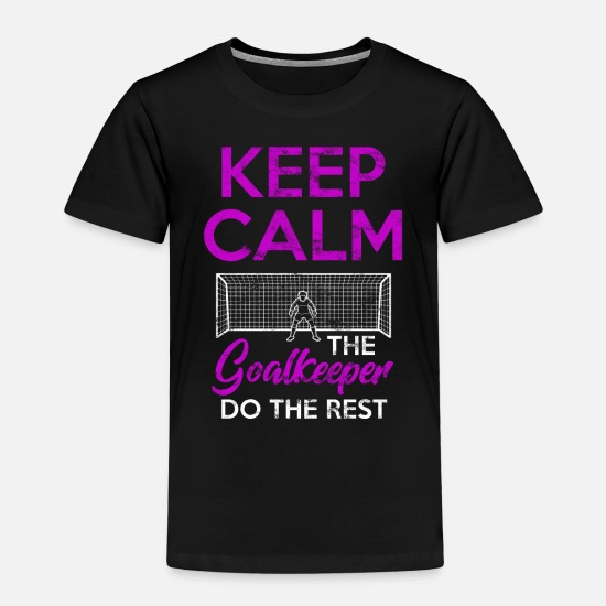 Goalkeeper T-Shirts - goalkeeper - Kids' Premium T-Shirt black