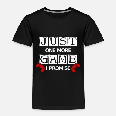More Ps Just one more game I promise Zocker Funshirt - Kinder Premium T-Shirt