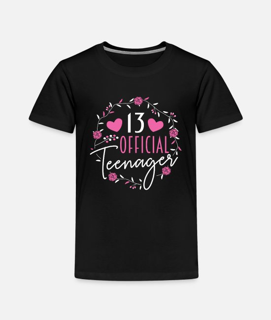 Teenager T-Shirts - 13. Geburtstag Teenager - Kinder Premium T-Shirt Schwarz