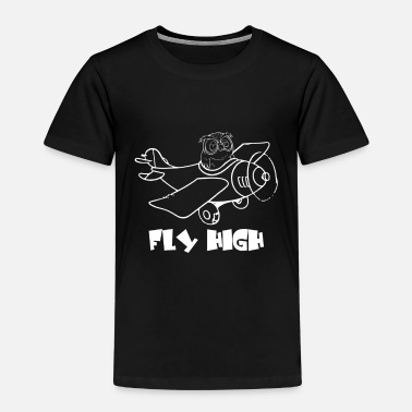 Fly High - ugle - Premium T-skjorte barn