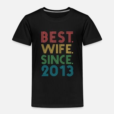Marry Best. Wife. Since. 2013 6th Wedding Anniversary - Kids' Premium T-Shirt