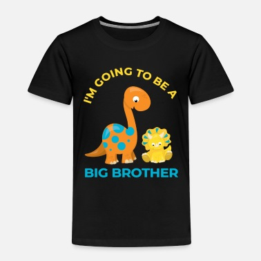 Big Brother Announcement The big brother of the dinosaur brontosaurus - Kids' Premium T-Shirt