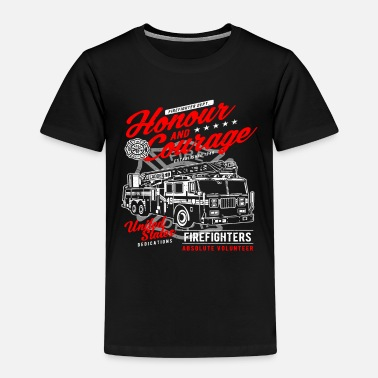 Firearm Firefighter Honor and Courage Fire Brigade - Kids' Premium T-Shirt