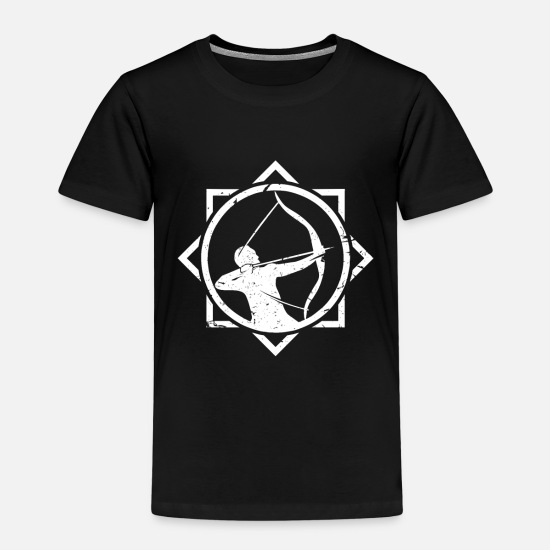 Arrow And Bow T-Shirts - Archer archery - Kids' Premium T-Shirt black