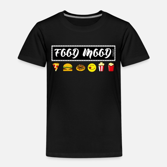 Fast Food T-Shirts - Smiley World Funny Junk Food Illustration - Kids' Premium T-Shirt black