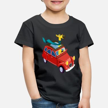Collection Giraffe in the car - Kids' Premium T-Shirt