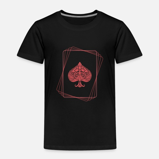 Gift Idea T-Shirts - Red spade - Kids' Premium T-Shirt black