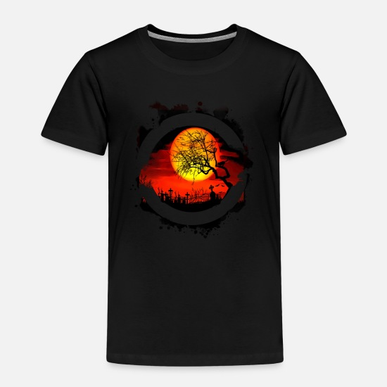 Halloween T-Shirts - Halloween Grab - Kinder Premium T-Shirt Schwarz