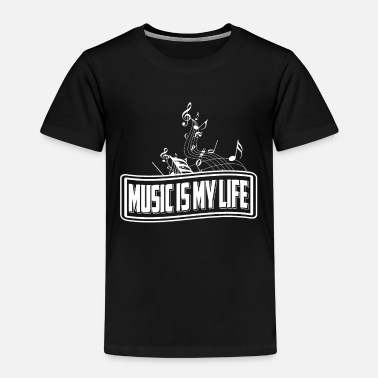Music Is My Life Camiseta Regalo Músico Profesor - Camiseta premium niño