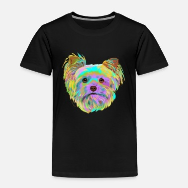 Splash Yorkshire Terrier Hund - Kinder Premium T-Shirt