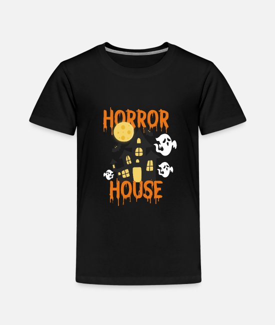 Witching Hour T-Shirts - Haunted house - Kids' Premium T-Shirt black