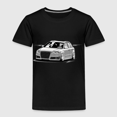 RS4 B7 A4 low style skulldriver tuning car - Kids' Premium T-Shirt