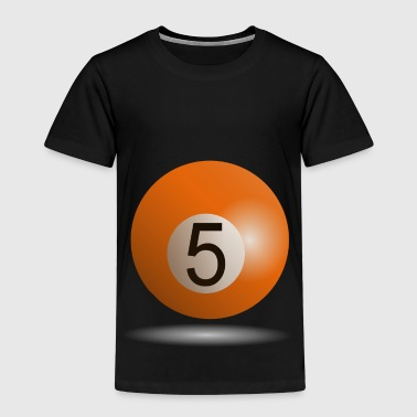 Billiard ball No. 5. Gift idea - Kids' Premium T-Shirt