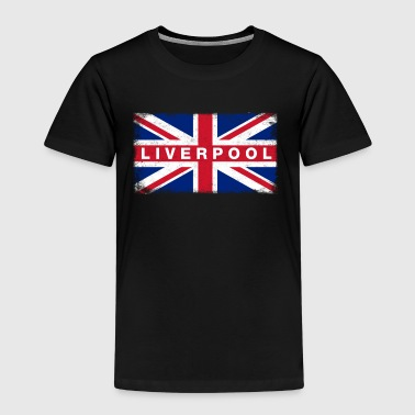 Liver Pool Shirt Vintage United Kingdom Flag - Premium-T-shirt barn