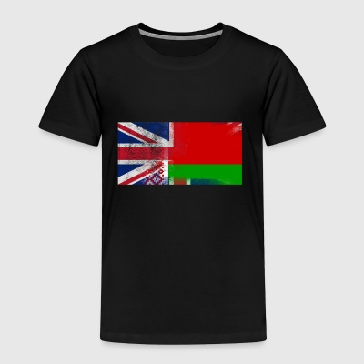 British Belarusian Half Belarus Half UK Flag - Kids' Premium T-Shirt