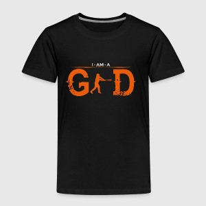 I AM GOD legend baseball homerun base 2 - Kinder Premium T-Shirt