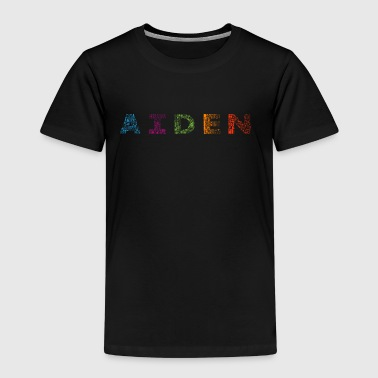 Aiden brev navn - Premium T-skjorte for barn