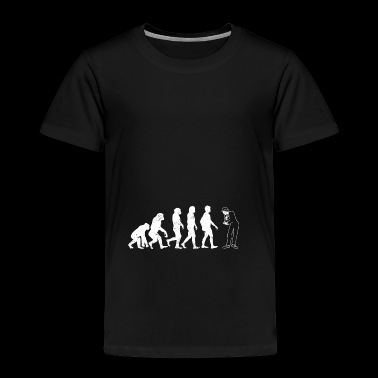 Pantomime Evolution geschenk stumm still leise - Kinder Premium T-Shirt