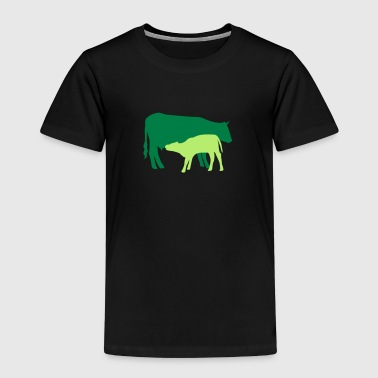 cow and calf coloured - Kids' Premium T-Shirt