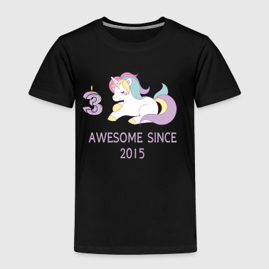 Funny unicorn 3rd birthday gift girl - Kids' Premium T-Shirt