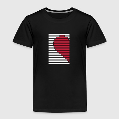 heart partner shirt left - Kids' Premium T-Shirt