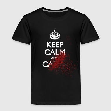 keep calm and carry on blood splatter - Kids' Premium T-Shirt