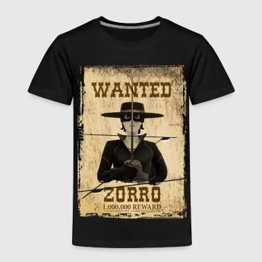 Zorro The Chronicles Western Plakat Wanted - Kinder Premium T-Shirt