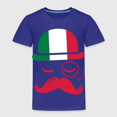 Italy nation fashionable retro iconic gentleman with flag and Moustache olympics sports football  - Kids' Premium T-Shirt
