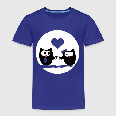 Valentine's Day Owls - Kids' Premium T-Shirt