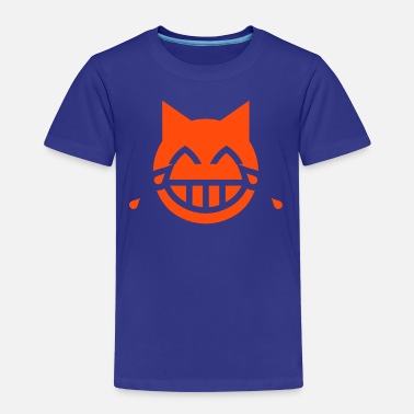Pussy Symbol Tears of Joy Emoji Cat - Kids' Premium T-Shirt