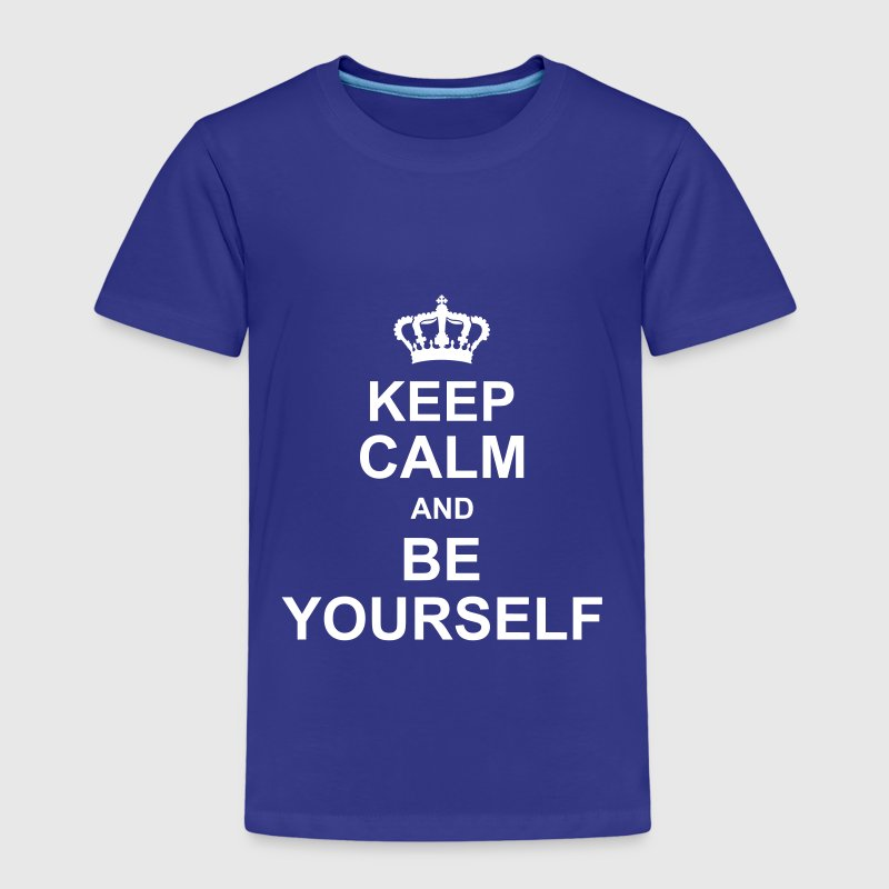 keep_calm_and_be_yourself_g1 - Premium-T-shirt barn