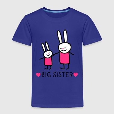 big sister (rabbits) - Premium T-skjorte for barn