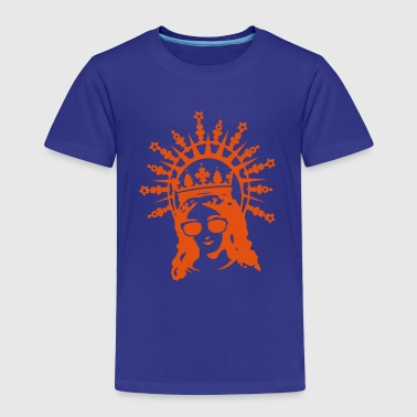 A portrait of the Virgin Mary with cool glasses - Kids' Premium T-Shirt