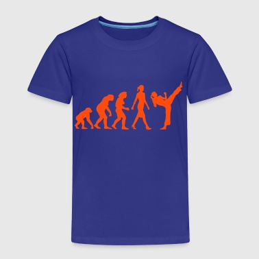 evolution_female_martial_art_112014_a_1c - Kinder Premium T-Shirt