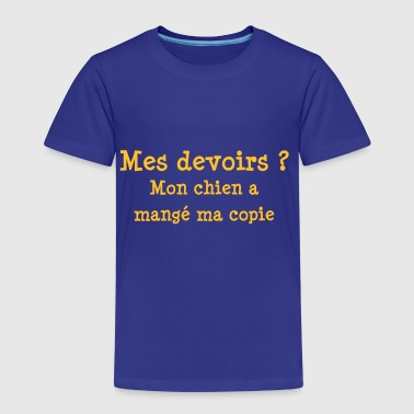 Mes devoirs - Premium T-skjorte for barn