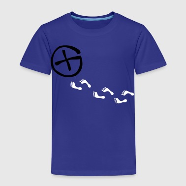 opencaching logo & footprints / 3 colors - Kinderen Premium T-shirt