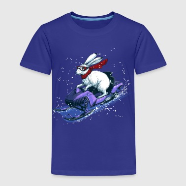 Hare Snowmobile - Kids' Premium T-Shirt