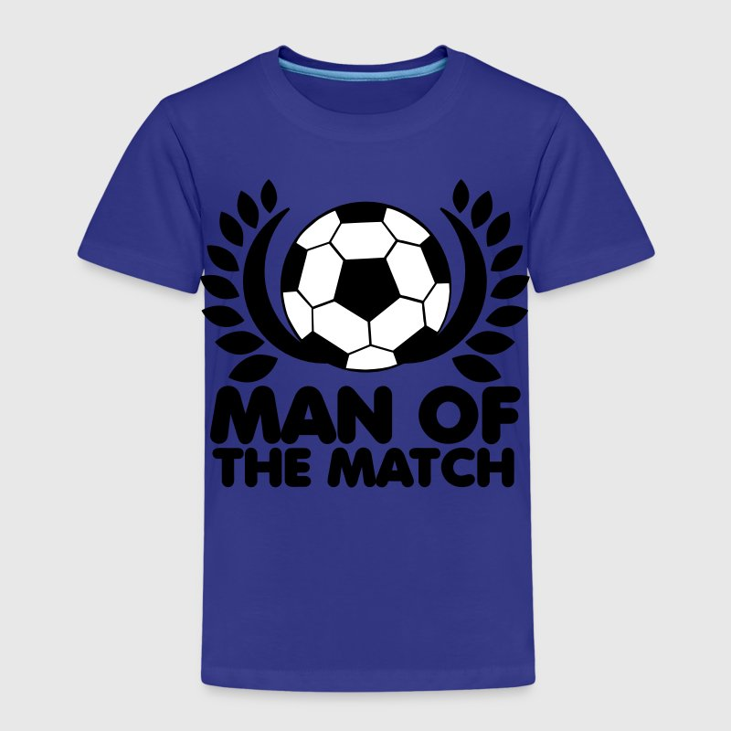man of the match BEST PLAYER football with wreath - Kids' Premium T-Shirt