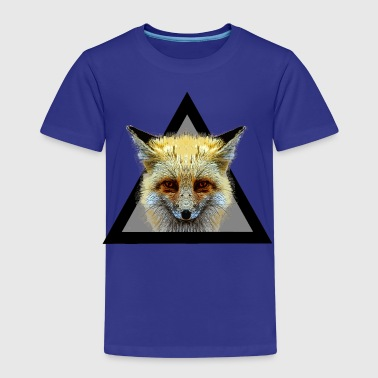 Hipster Fox triangle / What does the fox say? - Kids' Premium T-Shirt