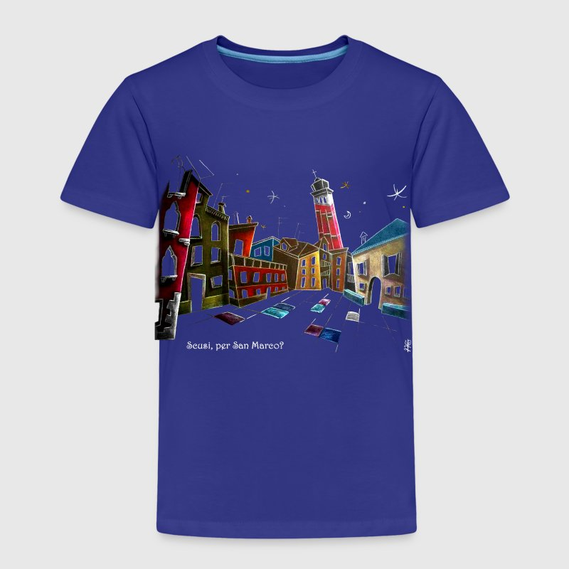 Art T-shirt Design Venice Italy - Children Fantasy Illustration - Kids' Premium T-Shirt