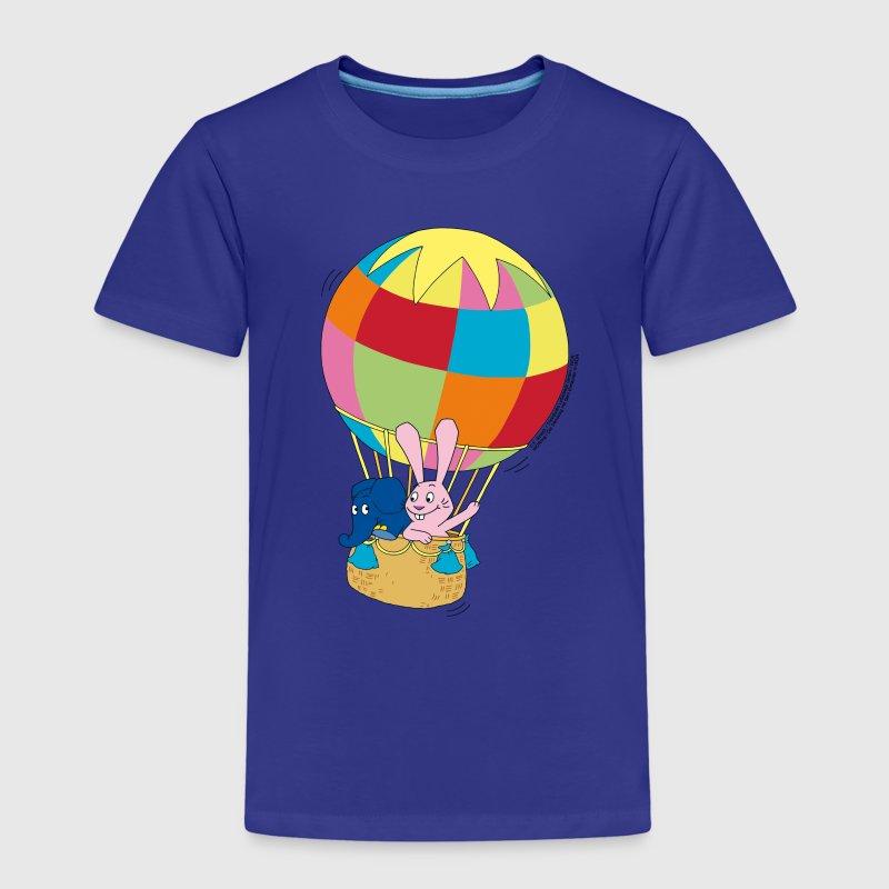 elefant und hase ballon fahren von wdrshop spreadshirt. Black Bedroom Furniture Sets. Home Design Ideas