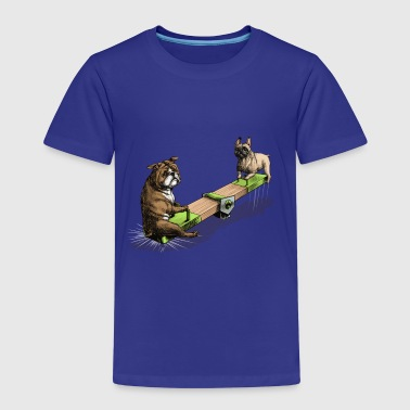 French & British Bulldog - Kinder Premium T-Shirt