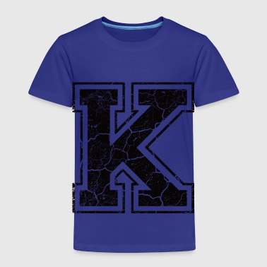 Letter K in the grunge look - Kids' Premium T-Shirt