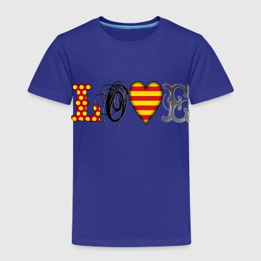 Love Catalonia Black - Camiseta premium niño