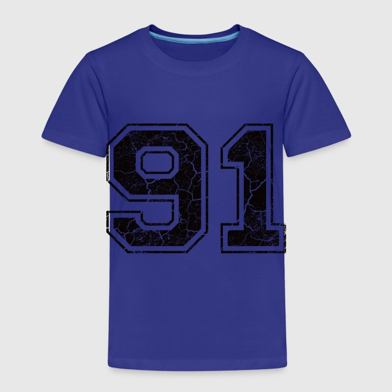 Number 91 in the grunge look - Kids' Premium T-Shirt