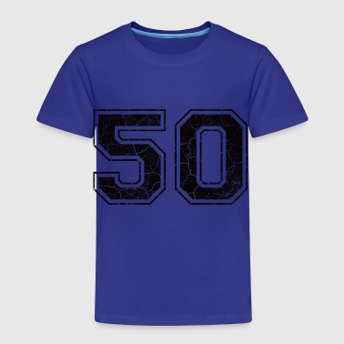 Number 50 in the grunge look - Kids' Premium T-Shirt