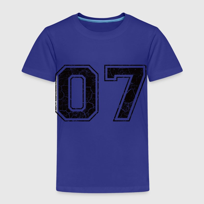 Number 07 in the grunge look - Kids' Premium T-Shirt